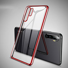 Ultra-thin Transparent TPU Soft Case Cover H01 for Huawei P30 Pro New Edition Red
