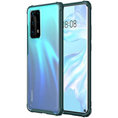 Ultra-thin Transparent TPU Soft Case Cover H01 for Huawei P40 Pro+ Plus Green