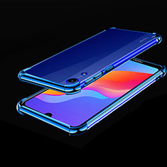 Ultra-thin Transparent TPU Soft Case Cover H01 for Huawei Y6 (2019) Blue