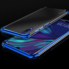 Ultra-thin Transparent TPU Soft Case Cover H01 for Huawei Y7 Prime (2019) Blue