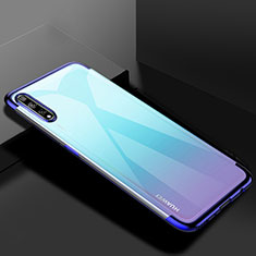 Ultra-thin Transparent TPU Soft Case Cover H01 for Huawei Y8p Blue