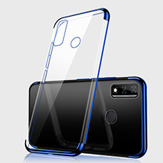 Ultra-thin Transparent TPU Soft Case Cover H01 for Huawei Y8s Blue