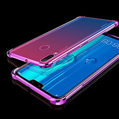 Ultra-thin Transparent TPU Soft Case Cover H01 for Huawei Y9 (2019) Purple