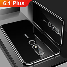Ultra-thin Transparent TPU Soft Case Cover H01 for Nokia 6.1 Plus Black