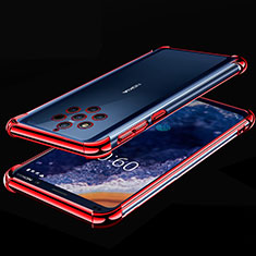 Ultra-thin Transparent TPU Soft Case Cover H01 for Nokia 9 PureView Red