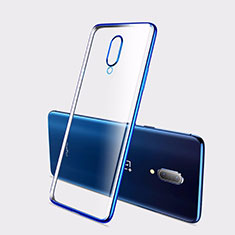Ultra-thin Transparent TPU Soft Case Cover H01 for OnePlus 7 Blue