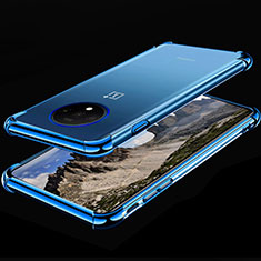 Ultra-thin Transparent TPU Soft Case Cover H01 for OnePlus 7T Blue