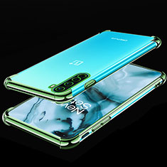 Ultra-thin Transparent TPU Soft Case Cover H01 for OnePlus Nord Green