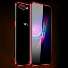 Ultra-thin Transparent TPU Soft Case Cover H01 for Oppo A12e Red