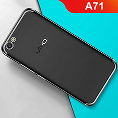 Ultra-thin Transparent TPU Soft Case Cover H01 for Oppo A71 Black