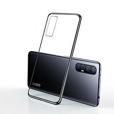 Ultra-thin Transparent TPU Soft Case Cover H01 for Oppo Find X2 Neo Black