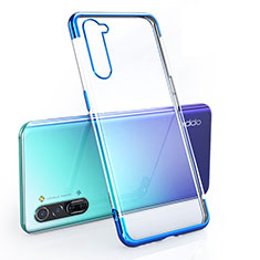 Ultra-thin Transparent TPU Soft Case Cover H01 for Oppo K7 5G Blue