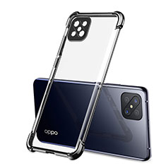 Ultra-thin Transparent TPU Soft Case Cover H01 for Oppo Reno4 Z 5G Black