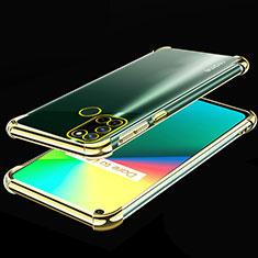 Ultra-thin Transparent TPU Soft Case Cover H01 for Realme 7i Gold