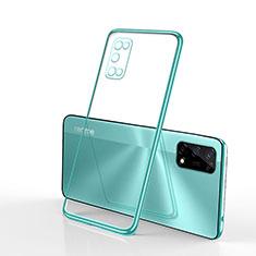 Ultra-thin Transparent TPU Soft Case Cover H01 for Realme V5 5G Green