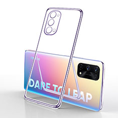 Ultra-thin Transparent TPU Soft Case Cover H01 for Realme X7 5G Clove Purple