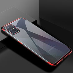 Ultra-thin Transparent TPU Soft Case Cover H01 for Samsung Galaxy A51 5G Red