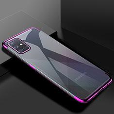 Ultra-thin Transparent TPU Soft Case Cover H01 for Samsung Galaxy A71 5G Purple