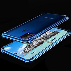Ultra-thin Transparent TPU Soft Case Cover H01 for Samsung Galaxy M21s Blue