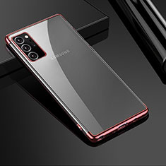 Ultra-thin Transparent TPU Soft Case Cover H01 for Samsung Galaxy Note 20 Ultra 5G Rose Gold