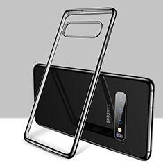 Ultra-thin Transparent TPU Soft Case Cover H01 for Samsung Galaxy S10 Black