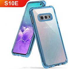 Ultra-thin Transparent TPU Soft Case Cover H01 for Samsung Galaxy S10e Sky Blue