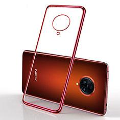 Ultra-thin Transparent TPU Soft Case Cover H01 for Vivo Nex 3 5G Red