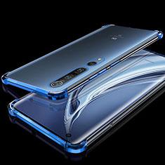 Ultra-thin Transparent TPU Soft Case Cover H01 for Xiaomi Mi 10 Pro Blue