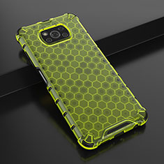 Ultra-thin Transparent TPU Soft Case Cover H01 for Xiaomi Poco X3 NFC Green