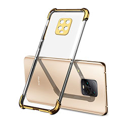 Ultra-thin Transparent TPU Soft Case Cover H01 for Xiaomi Redmi 10X Pro 5G Gold