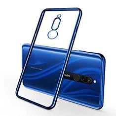 Ultra-thin Transparent TPU Soft Case Cover H01 for Xiaomi Redmi 8 Blue