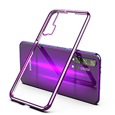 Ultra-thin Transparent TPU Soft Case Cover H02 for Huawei Honor 20 Pro Purple