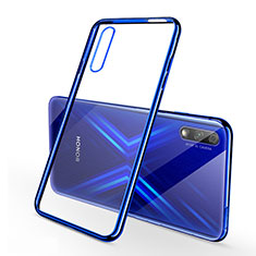 Ultra-thin Transparent TPU Soft Case Cover H02 for Huawei Honor 9X Blue