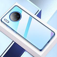 Ultra-thin Transparent TPU Soft Case Cover H02 for Huawei Mate 30E Pro 5G Blue