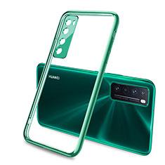 Ultra-thin Transparent TPU Soft Case Cover H02 for Huawei Nova 7 5G Green
