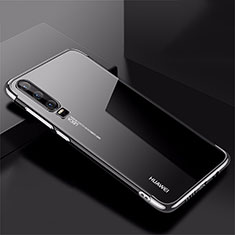 Ultra-thin Transparent TPU Soft Case Cover H02 for Huawei P30 Silver
