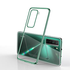 Ultra-thin Transparent TPU Soft Case Cover H02 for Huawei P40 Lite 5G Green