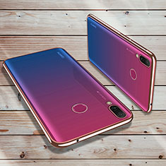 Ultra-thin Transparent TPU Soft Case Cover H02 for Huawei Y9 (2019) Rose Gold