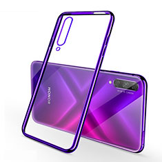 Ultra-thin Transparent TPU Soft Case Cover H02 for Huawei Y9s Purple
