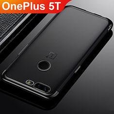 Ultra-thin Transparent TPU Soft Case Cover H02 for OnePlus 5T A5010 Black