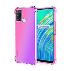 Ultra-thin Transparent TPU Soft Case Cover H02 for Realme 7i Pink