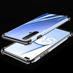 Ultra-thin Transparent TPU Soft Case Cover H02 for Realme X3 SuperZoom Black