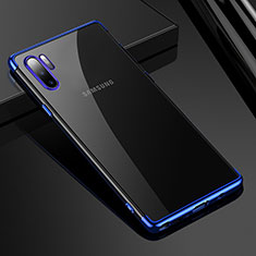 Ultra-thin Transparent TPU Soft Case Cover H02 for Samsung Galaxy Note 10 Plus Blue