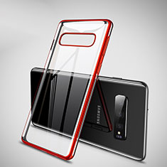 Ultra-thin Transparent TPU Soft Case Cover H02 for Samsung Galaxy S10 Plus Red