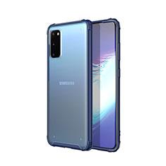 Ultra-thin Transparent TPU Soft Case Cover H02 for Samsung Galaxy S20 5G Blue