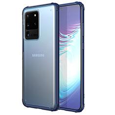 Ultra-thin Transparent TPU Soft Case Cover H02 for Samsung Galaxy S20 Ultra 5G Blue