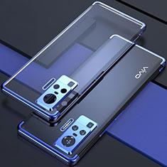 Ultra-thin Transparent TPU Soft Case Cover H02 for Vivo X51 5G Blue