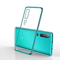 Ultra-thin Transparent TPU Soft Case Cover H02 for Xiaomi Mi 10 Green