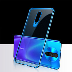 Ultra-thin Transparent TPU Soft Case Cover H02 for Xiaomi Poco X2 Blue