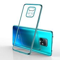Ultra-thin Transparent TPU Soft Case Cover H02 for Xiaomi Redmi 10X Pro 5G Cyan